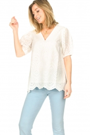 JC Sophie |  Embroidery top Gracie | white  | Picture 2