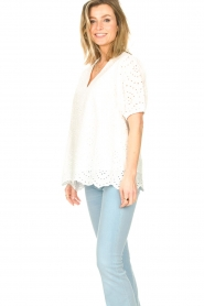 JC Sophie |  Embroidery top Gracie | white  | Picture 5