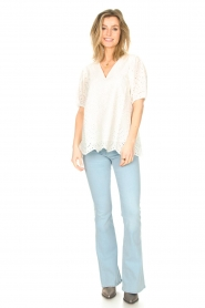 JC Sophie |  Embroidery top Gracie | white  | Picture 3