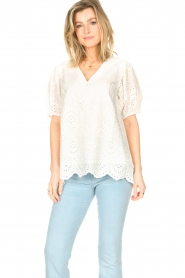 JC Sophie |  Embroidery top Gracie | white  | Picture 4