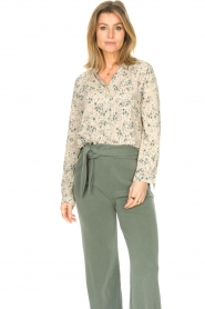 JC Sophie |  Print blouse Ghandi | green  | Picture 4