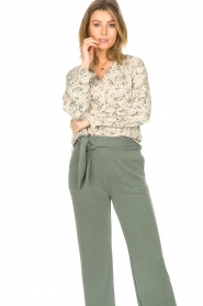 JC Sophie |  Print blouse Ghandi | green  | Picture 2