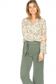 JC Sophie |  Print blouse Ghandi | green  | Picture 5