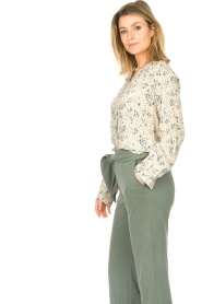 JC Sophie |  Print blouse Ghandi | green  | Picture 6