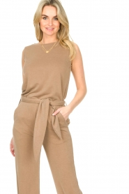 JC Sophie |  Sleeveless top Gwendoline | brown  | Picture 2