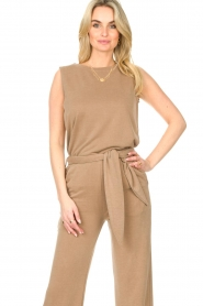 JC Sophie |  Sleeveless top Gwendoline | brown  | Picture 4