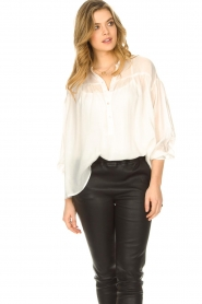 JC Sophie |  Tencel blouse Gemma | white  | Picture 2