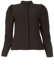 Dante 6 |  Blouse with puff sleeves Honore | black  | Picture 2