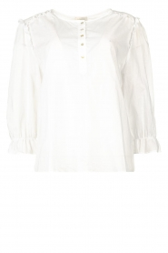 JC Sophie |  Cotton blouse Garnett | white  | Picture 1