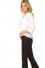 JC Sophie |  Cotton blouse Garnett | white  | Picture 5