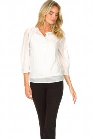 JC Sophie |  Cotton blouse Garnett | white  | Picture 4