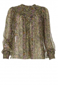 Dante 6 |  See-through blouse with print Elvi | multi  | Picture 1