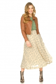 JC Sophie |  Floral midi skirt Gianna | beige  | Picture 4