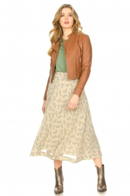 JC Sophie |  Floral midi skirt Gianna | beige  | Picture 2