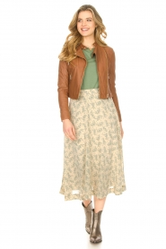 JC Sophie |  Floral midi skirt Gianna | beige  | Picture 3