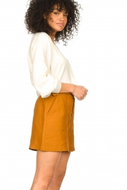 JC Sophie    Cotton top with puff sleeves Gitana   natural    Picture 5