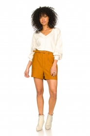 JC Sophie    Cotton top with puff sleeves Gitana   natural    Picture 3