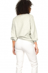 JC Sophie |  Cotton sweater with puff sleeves Gitana | grey  | Picture 5
