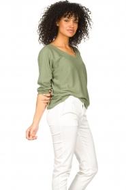 JC Sophie | Katoenen trui Ginger | groen   | Afbeelding 4
