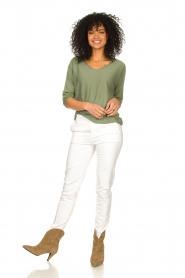 JC Sophie |  Cotton sweater Ginger | green  | Picture 3