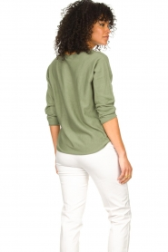 JC Sophie |  Cotton sweater Ginger | green  | Picture 5