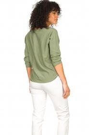 JC Sophie | Katoenen trui Ginger | groen   | Afbeelding 5