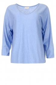 JC Sophie |  Cotton sweater Ginger | blue  | Picture 1