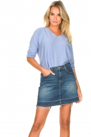JC Sophie |  Cotton sweater Ginger | blue  | Picture 4