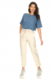 JC Sophie |  Knitted sweater Godiva | blue   | Picture 3