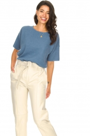 JC Sophie |  Knitted sweater Godiva | blue   | Picture 2