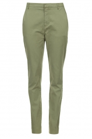 JC Sophie | Katoenen chino broek Gray | groen   | Afbeelding 1