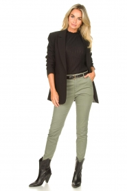 JC Sophie :  Cotton chino pants Gray | green - img2