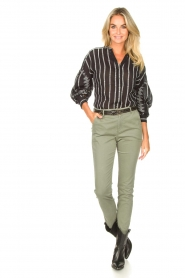 JC Sophie :  Cotton chino pants Gray | green - img3