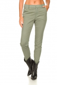 JC Sophie :  Cotton chino pants Gray | green - img4