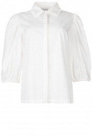 Dante 6 |  Cotton blouse with puff sleeves Vernon | white  | Picture 1