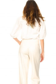 Dante 6 |  Cotton blouse with puff sleeves Vernon | white  | Picture 7