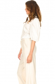 Dante 6 |  Cotton blouse with puff sleeves Vernon | white  | Picture 6