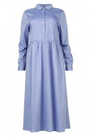 JC Sophie |  Cotton midi dress Guinevere | blue  | Picture 1