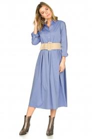 JC Sophie |  Cotton midi dress Guinevere | blue  | Picture 4