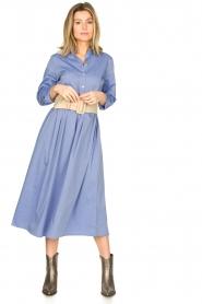 JC Sophie |  Cotton midi dress Guinevere | blue  | Picture 2