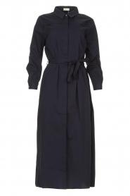 JC Sophie |  Midi button-up dress Gretchen | blue  | Picture 1