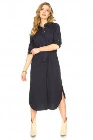 JC Sophie |  Midi button-up dress Gretchen | blue  | Picture 2
