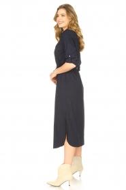 JC Sophie |  Midi button-up dress Gretchen | blue  | Picture 4