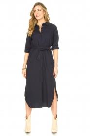 JC Sophie |  Midi button-up dress Gretchen | blue  | Picture 3