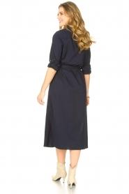 JC Sophie |  Midi button-up dress Gretchen | blue  | Picture 6