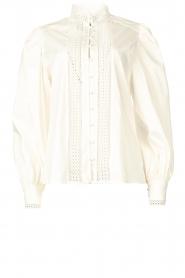 Dante 6 |  Cotton broderie blouse Bijou | white  | Picture 1