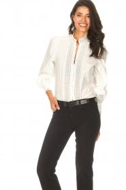 Dante 6 |  Cotton broderie blouse Bijou | white  | Picture 2