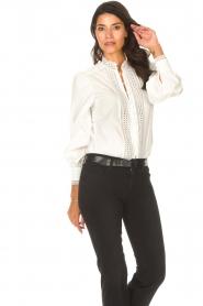 Dante 6 |  Cotton broderie blouse Bijou | white  | Picture 5