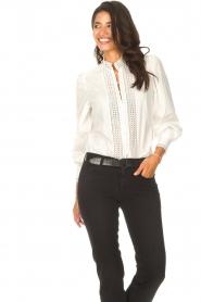 Dante 6 |  Cotton broderie blouse Bijou | white  | Picture 6