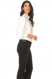 Dante 6 |  Cotton broderie blouse Bijou | white  | Picture 7